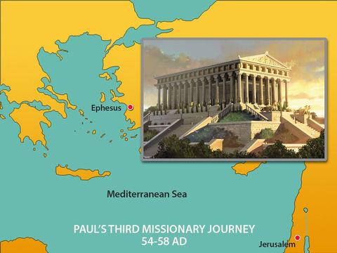 La première église à qui Jésus-Christ s'adresse est l'église d'Éphèse. Éphèse est connue pour son temple d'Artémis, elle est la capitale romaine d'Asie mineure.