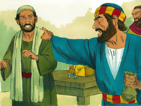 Pierre lui dit: « Ananias, pourquoi Satan a-t-il rempli ton cœur, au point que tu aies menti au Saint-Esprit et gardé une partie du prix du champ? Ce n'est pas à des hommes que tu as menti, mais à Dieu »