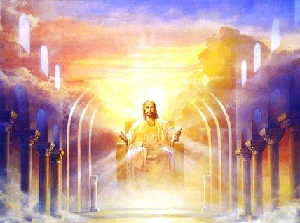 """Jésus-Christ est issu de l'organisation spirituelle de Dieu. De là, il va renaître sous forme humaine puis deviendra le Roi du Royaume céleste avec ses 144'000 cohéritiers à qui il a promis : « Au vainqueur, je donnerai autorité sur les nations."""""""