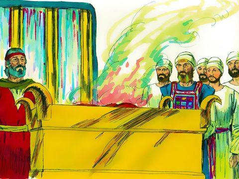 """Et Jéhovah continua de parler à Moïse, en disant: """" Si une âme se montre infidèle en ce qu'elle pèche réellement par erreur contre les choses saintes de Jéhovah, alors elle devra amener à Jéhovah, comme son sacrifice de culpabilité, un bélier sans défaut."""