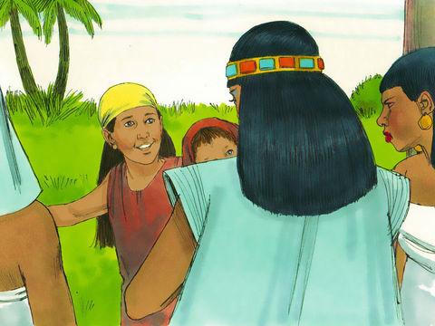Myriam propose à la fille du pharaon de lui trouver une nourrice pour Moïse