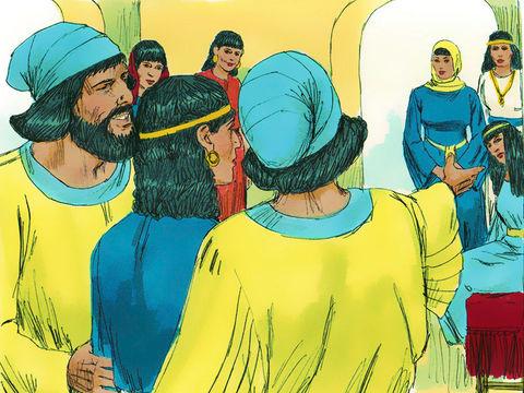 Qu'on recherche des jeunes filles qui soient vierges et belles pour le roi. Que le roi désigne, dans toutes les provinces de son royaume, des inspecteurs chargés de rassembler toutes les jeunes filles vierges et belles à Suse, la capitale, dans le harem.