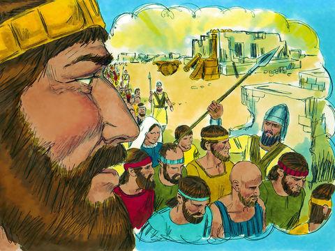 Mais les Israélites se montrent infidèles et idolâtres allant jusqu'à commettre des actes abominables c'est pourquoi le Tout-Puissant va utiliser les armées babyloniennes de Nébucadnetsar pour détruire Jérusalem et son temple en 587 av J-C.