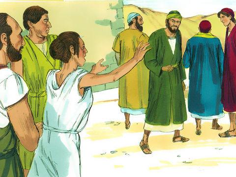A Philippes, Paul et Silas sont suivis pendant plusieurs jours par une servante qui est possédées par un esprit de divination et qui procure un grand profit à ses maîtres.