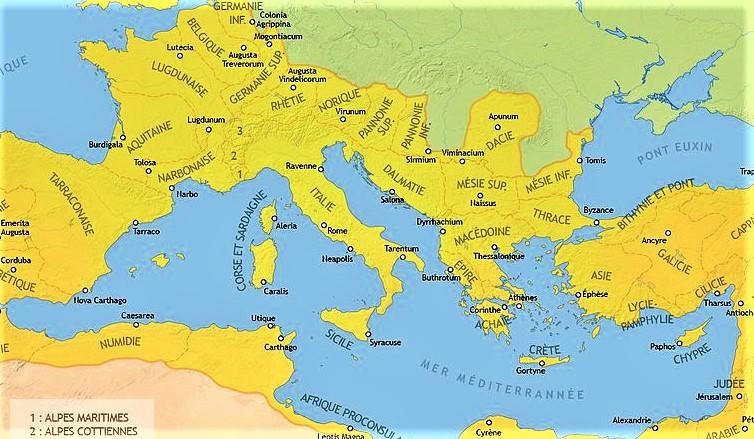 Les Wisigoths, eux, demandent la permission à l'Empire romain de traverser le Danube et de s'installer en Mésie (Serbie et Bulgarie). Le roi du Sud établit des alliances avec le roi du Nord.