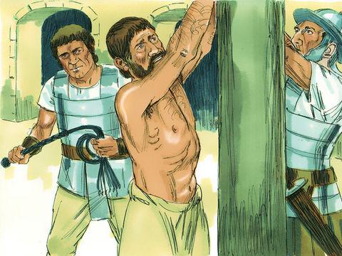 L'apôtre Paul a subi la haine des foules à Jérusalem, les Juifs veulent sa mort. Il sera fouetté par les Romains.