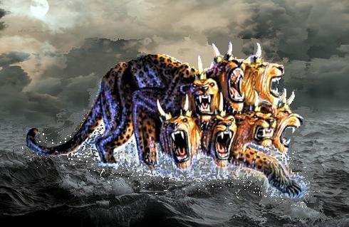 La bête d'Apocalypse 13 qui sort de la mer proférera des blasphèmes contre Dieu et les Êtres spirituels célestes. Pendant 42 mois, elle s'attaquera aux fidèles chrétiens car ils refuseront de lui porter allégeance.