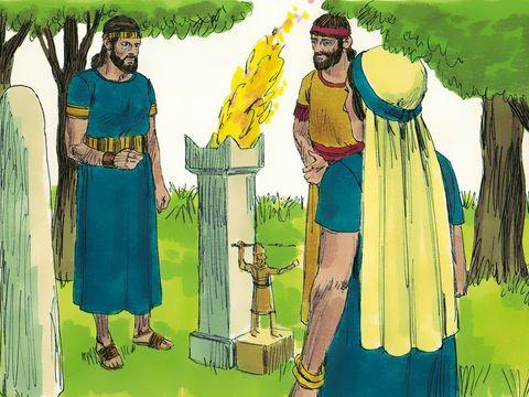 Des prophètes leur furent envoyés pour les ramener à Yahvé; mais ils témoignèrent contre eux sans qu'ils prêtent l'oreille. Zacharie, le fils du prêtre Yehoyada, vient les avertir. Pourquoi transgressez-vous les commandements de Yahvé ?