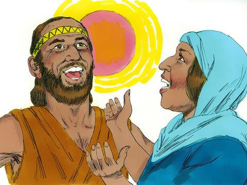 La prophétesse Déborah et Barak chantent un chant à la gloire de Dieu.