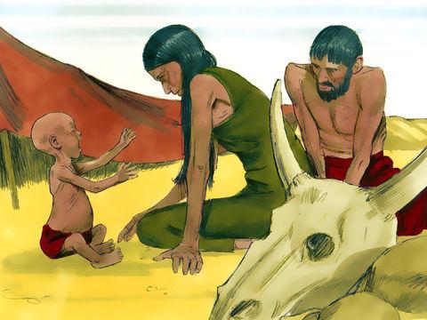 7 années de famine prédites dans le rêve du pharaon- Joseph est intendant d'Egypte. L'Egypte a pu emmagasiner de très grandes réserves de nourriture.