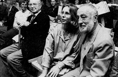 Die Illustratorin Isa Dietrich neben Joachim Tettenborn bei der Buchpremiere (Foto: Husumer Nachrichten, 1987)