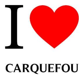 coeur rouge avec carquefou écrit en noir