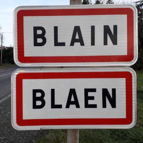 panneau entrée agglomération ville de blain 44130