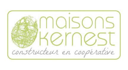 logo vert en forme de cocon sur un fond blanc de la coopérative Maisons Kernest