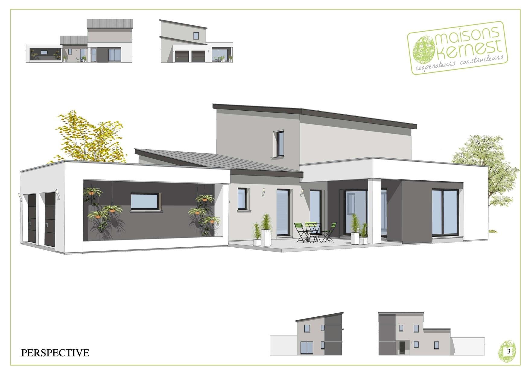 Yoko, un modèle de maison à étage imaginée (ou imagine selon john lennon) avec double garage.