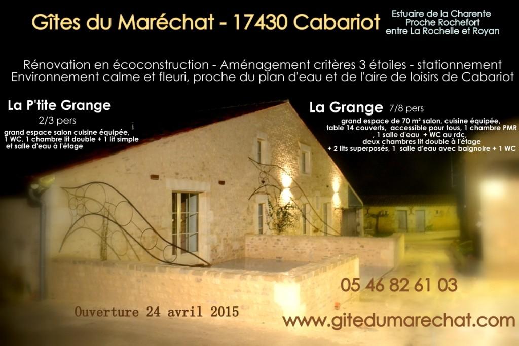 Ensemble La Grande Grannge - Grand Gîte modulable en deux, La Petite Grange pour 2/3 personnes et la Grange pour 6/9 personnes