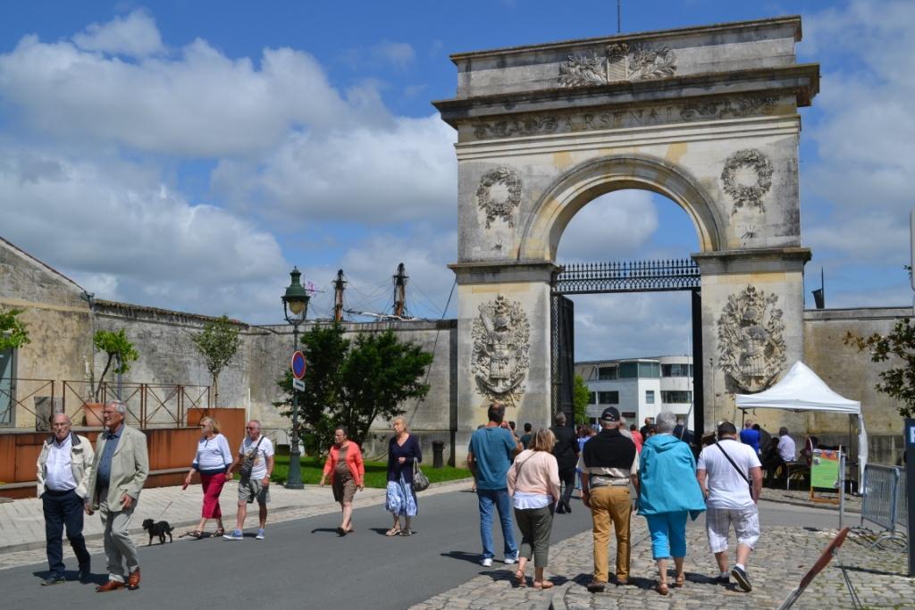 La Porte du Soleil entrée du Grand Arsenal maritime de Rochefort