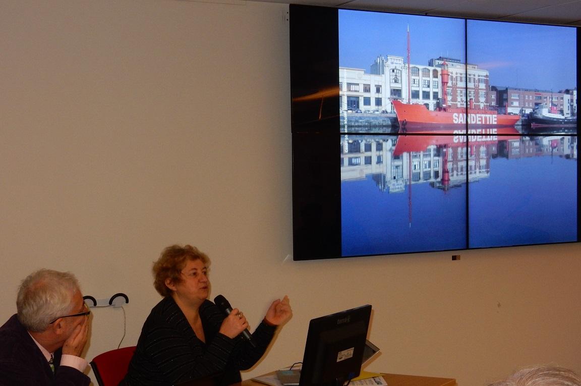 """Marie-Laure GRIFFATON, Conservatrice en Chef du Musée portuaire de Dunkerque, pour l'exposé """"Conservation des bateaux-feux"""" et de la vedette ESQUINA"""