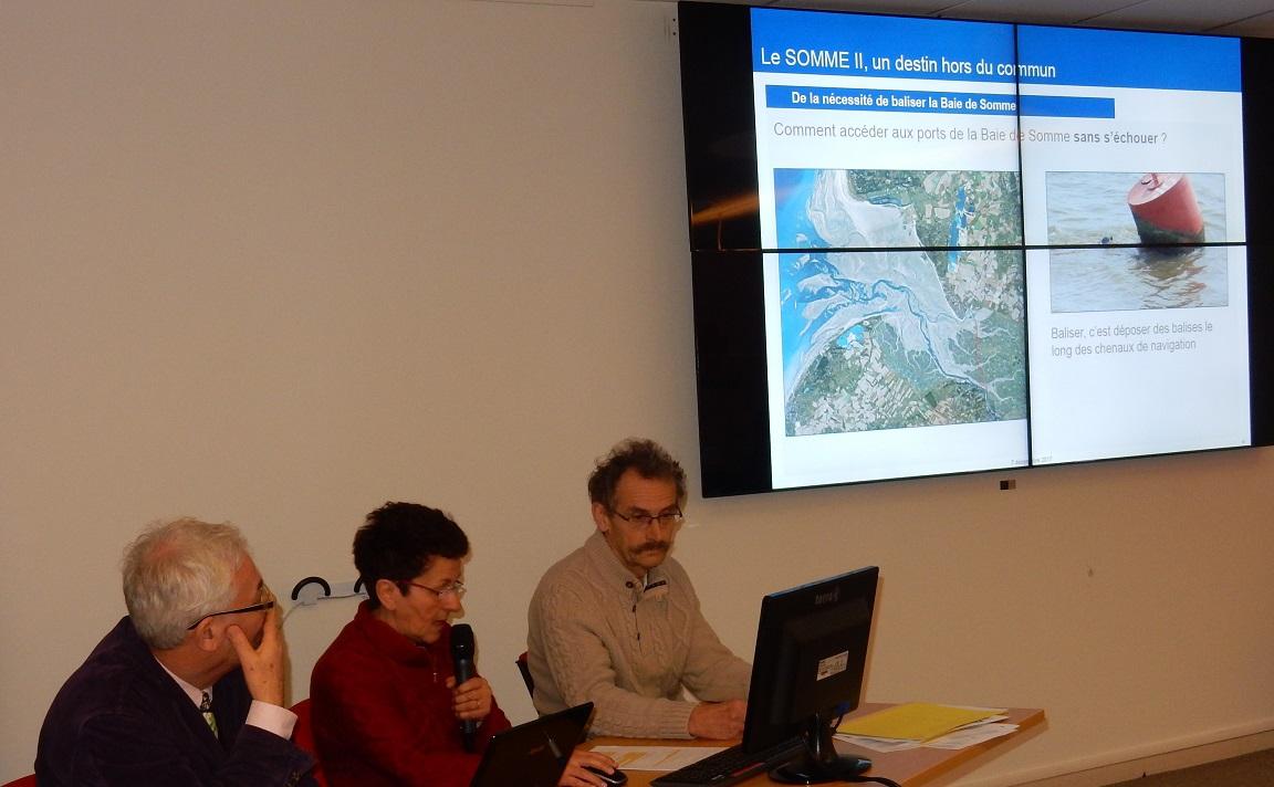 Paule (Présidente d'AS2) et Christian PORQUET présentent l'association SOMME II.