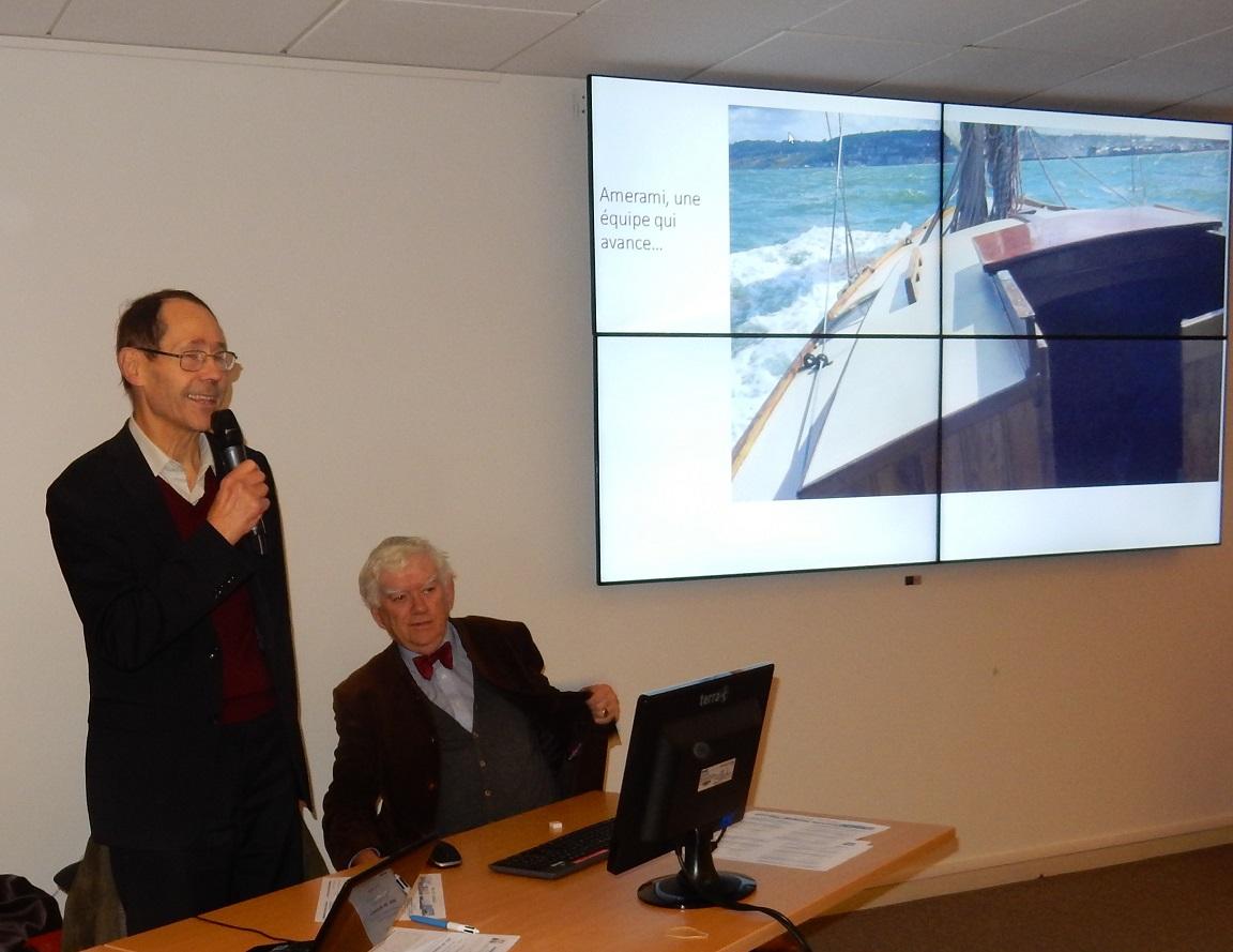 AMERAMI, une autre façon de conservation du Patrimoine par Thierry d'ARBONNEAU, Président d'AMERAMI, et Olivier CHARMET.