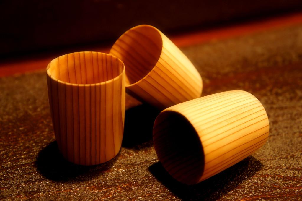 杉の香りで今日という日の癒し酒…