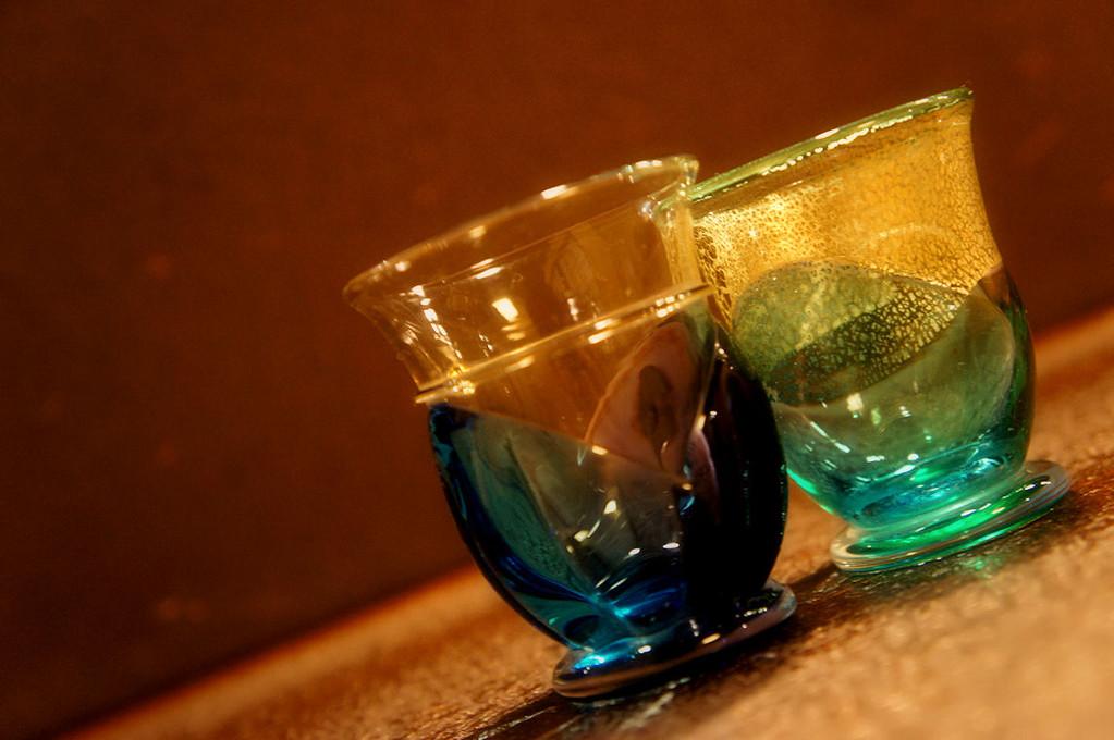 津軽のビードロのガラスの世界で涼やかに…