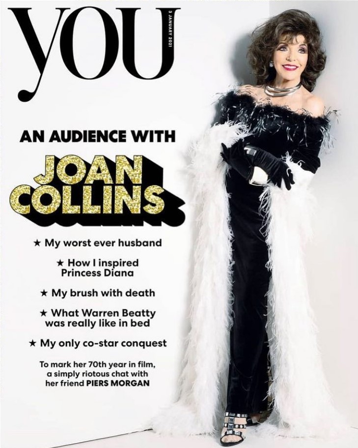 Joan features in this Sunday the 3rd January The Mail on Sunday You magazine with a sensational cover & an 11 page spread inside...