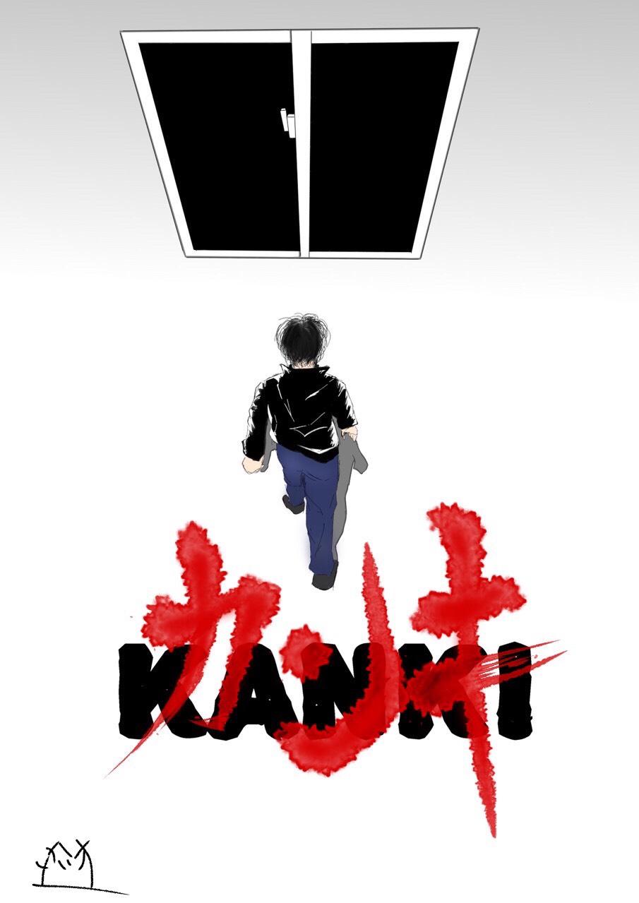 換気中のイラスト、槙さんをモデルとしています。「あの超有名アニメ映画」のパロ