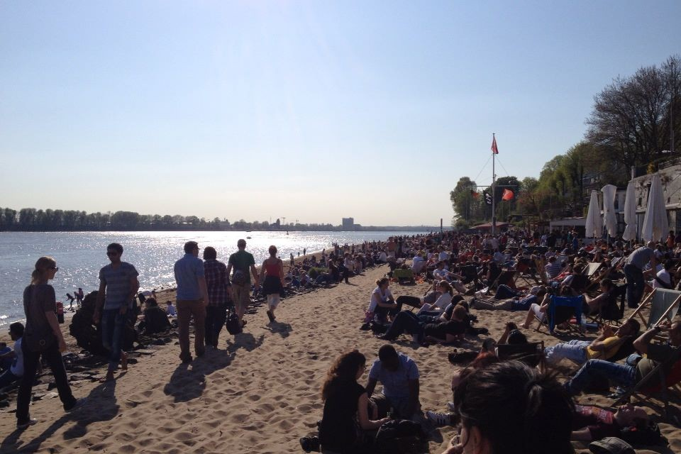 Strandperle at the Elbe beach