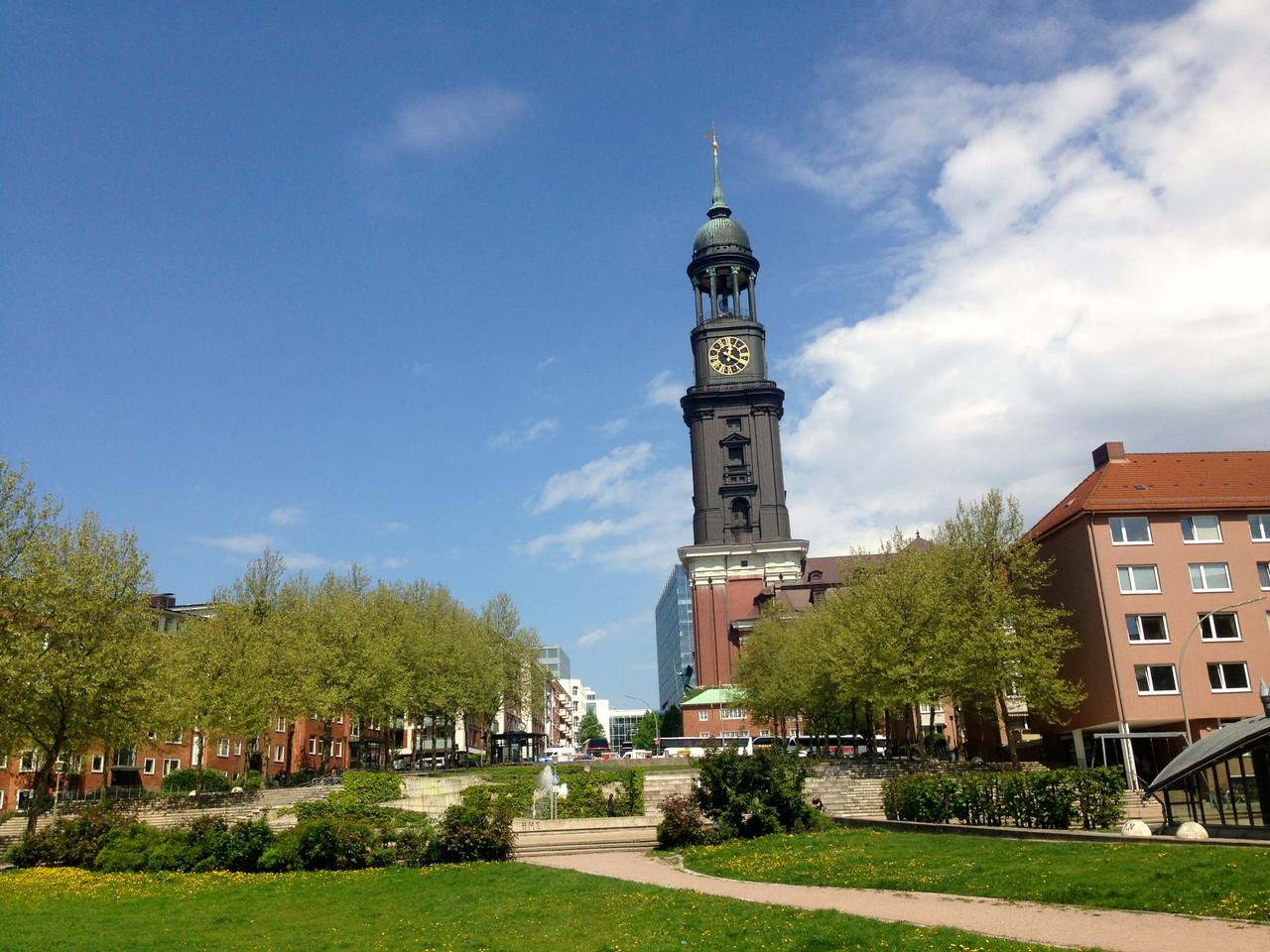 "St. Michaelis church - Hamburg's signature church ""Der Michel"""