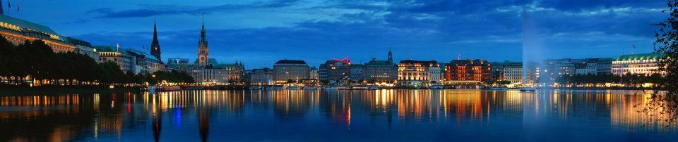 View of downtown across the BinnenAlster