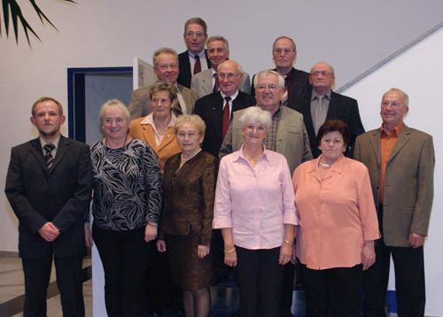 Die neuen Ehrenmitglieder aus dem Jahre 2005