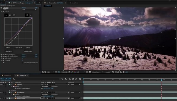 Color Grading in Videoschnittprogramm