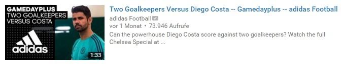 YouTube-Thumbnail: Adidas-Logo und Fussballspieler.