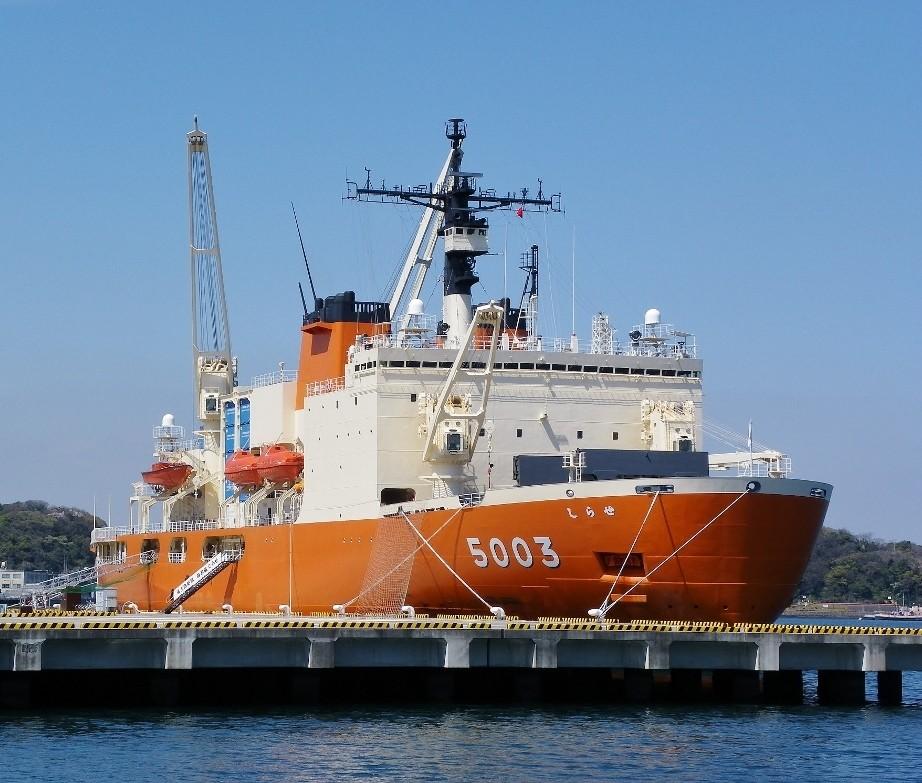 南極観測船:しらせ5003横須賀入港