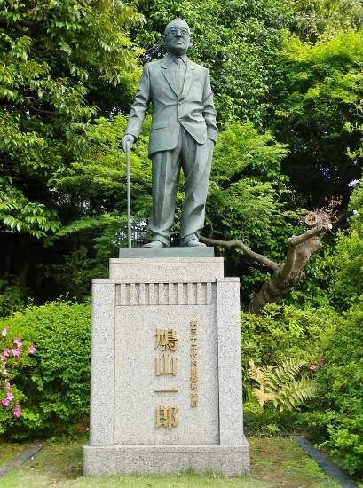 鳩山一郎氏銅像