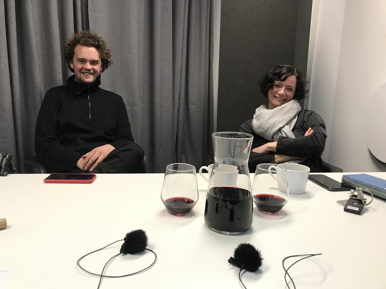 Claudia Steinbauer & Marianus von Hörsten  beim Foodtalker Podcast