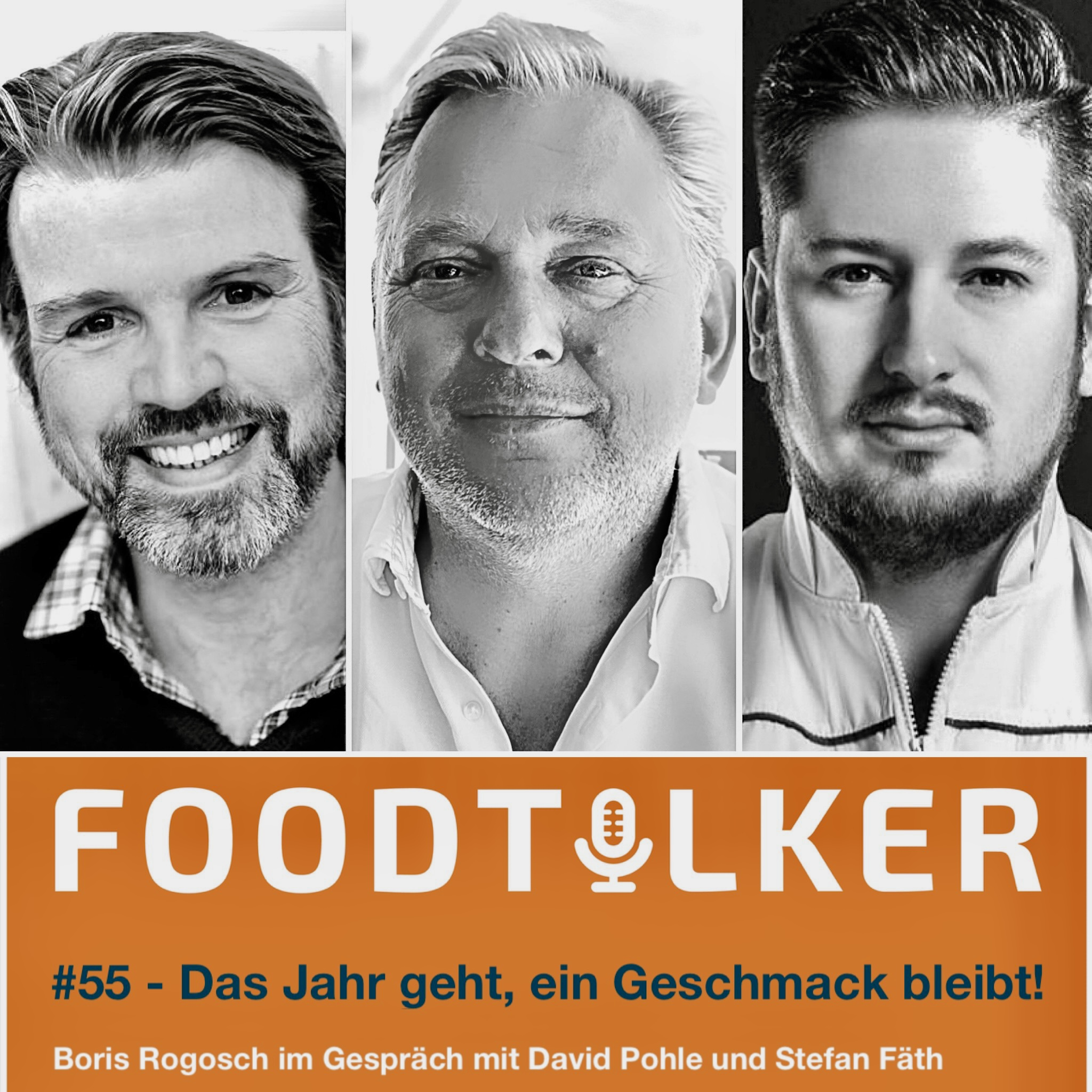 Boris Rogosch(mi.) im Gespräch mit David Pohle (li.)  und Stefan Fäth(re.)
