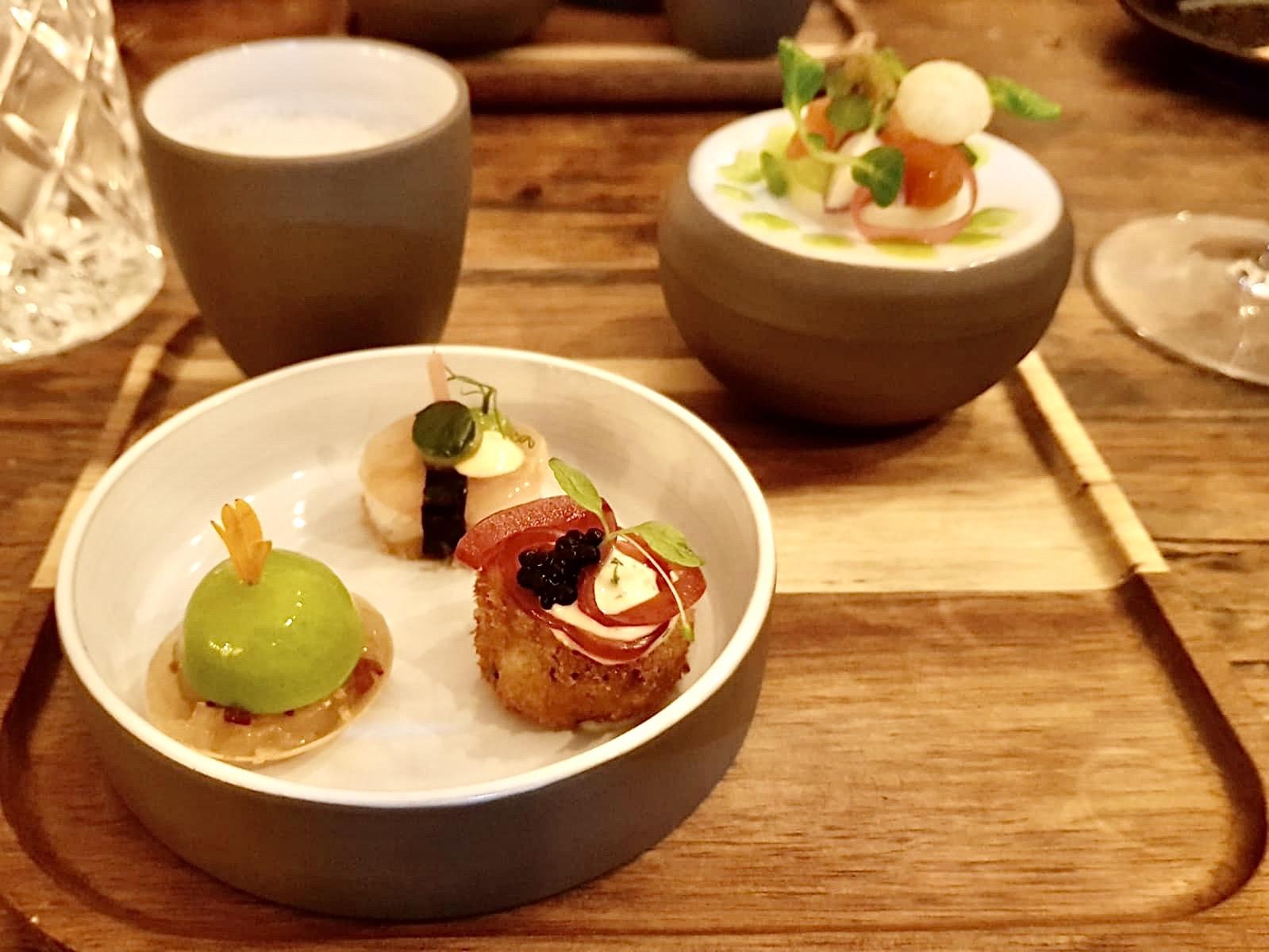 Menü im Restaurant Jellyfish: Amuse
