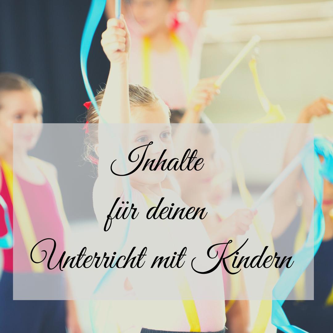 Kindertanzpädagogik und Stundeninhalte