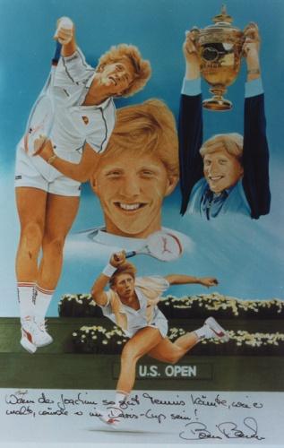 Boris Becker by Joachim Thiess
