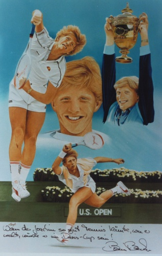 Boris Becker, Collage by Joachim Thiess