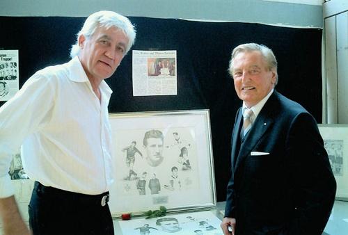 Joachim Thiess zusammen mit Gerhard Mayer-Vorfelder, dem ehemaligen Ministerpräsidenten von Baden- Württemberg