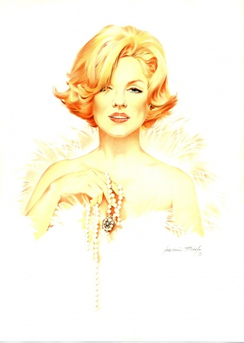 Marylin Monroe, Portrait by Joachim Thiess