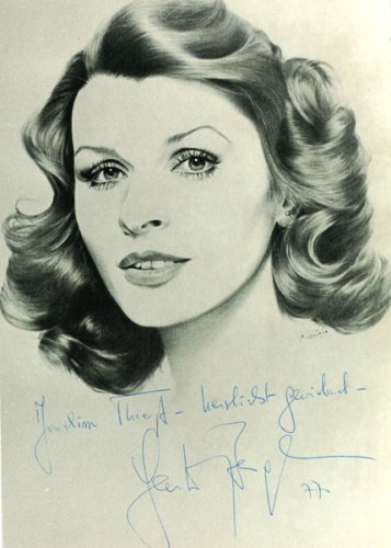 Senta Berger, Portrait by Joachim Thiess