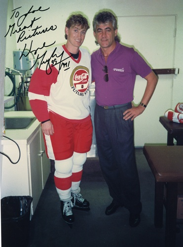 Joachim Thiess und Wayne Gretzky