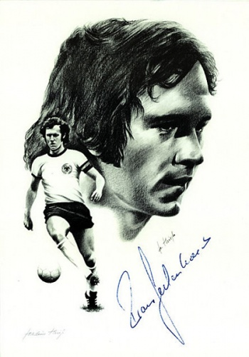 Franz Beckenbauer, Collage by Joachim Thiess