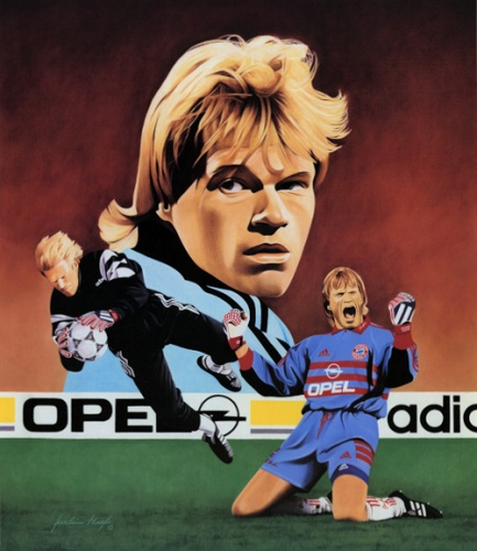 Oliver Kahn, Collage by Joachim Thiess