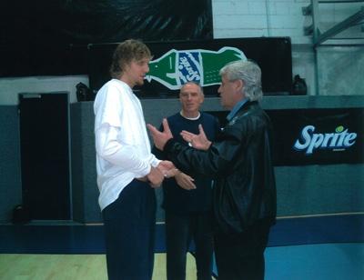 Dirk Nowitzki und Joachim Thiess