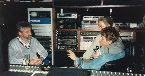Joachim Thiess mit Peter Maffay im Ton Studio